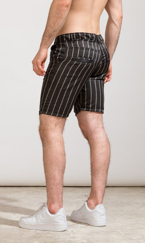 Skinny Bermudas - Stripes lightweight on internet