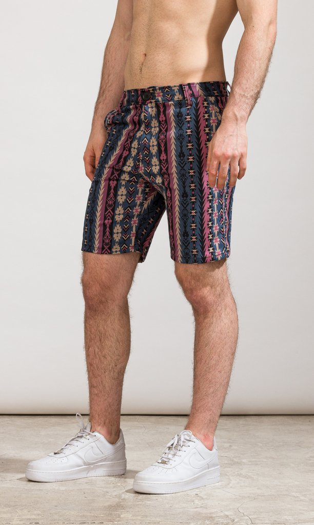 Denim skinny Bermudas - Native American - Mohammed