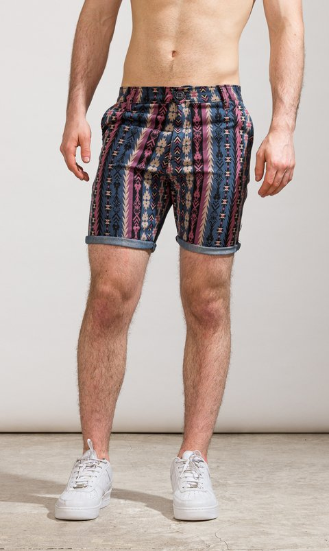 Denim skinny Bermudas - Native American