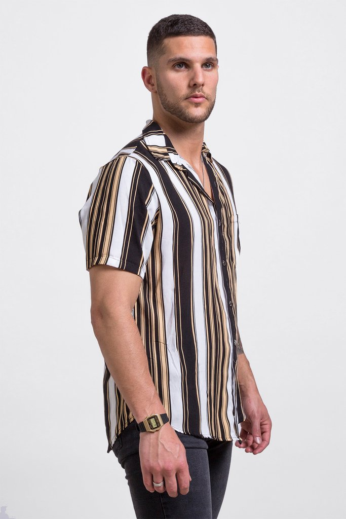 Black & gold shirt - comprar online