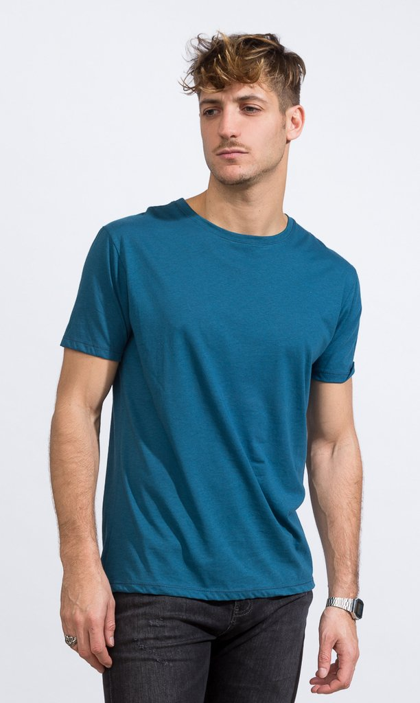 Basic tshirt - Regular fit - dark emerald