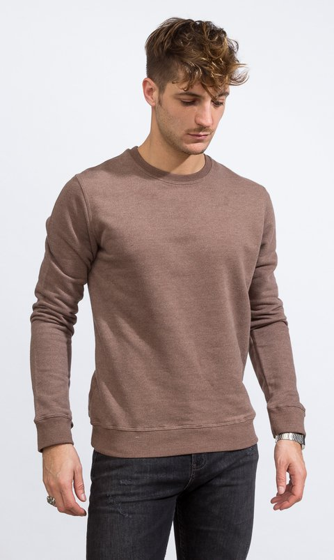 Sweatshirt - Regular fit - Brown