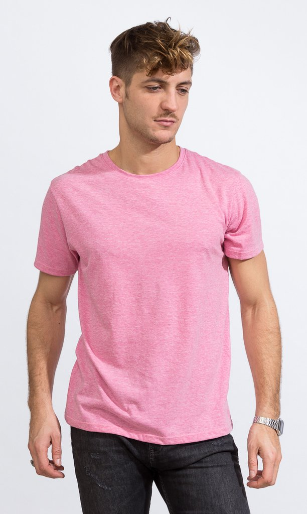 Basic tshirt - Regular fit - pink melange