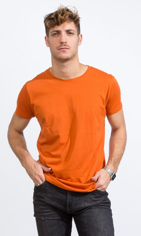 Basic tshirt - Regular fit - Vintage Orange