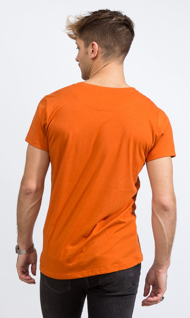 Basic tshirt - Regular fit - Vintage Orange - comprar online