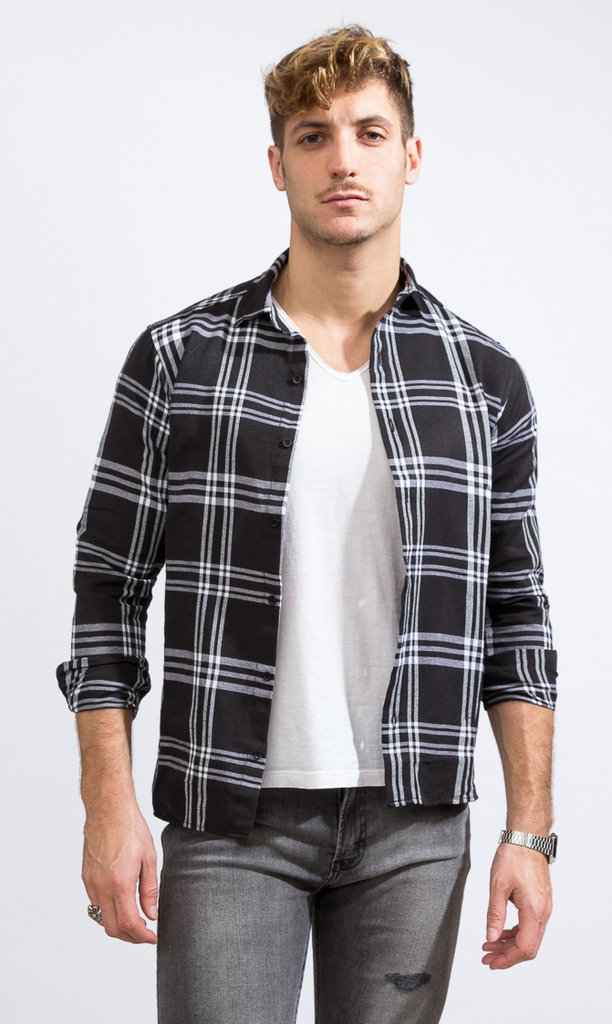 Lumberjack shirt - Skinny fit - black & white - buy online