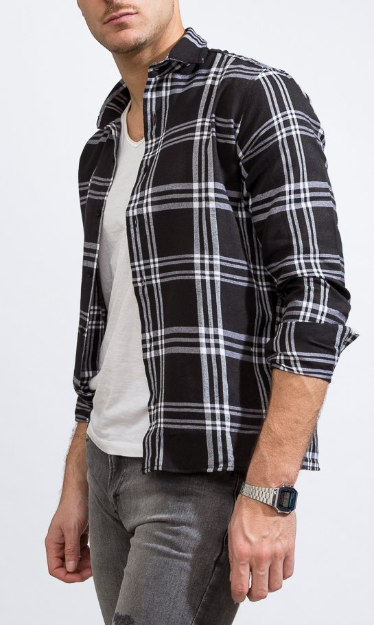 Lumberjack shirt - Skinny fit - black & white