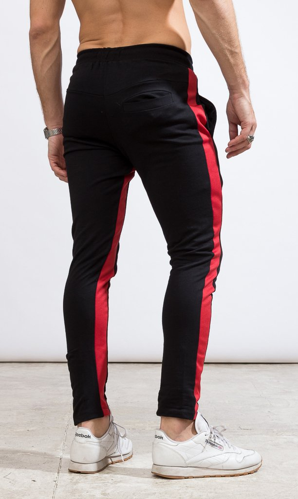 Skinny Jogger - Black & Red - buy online