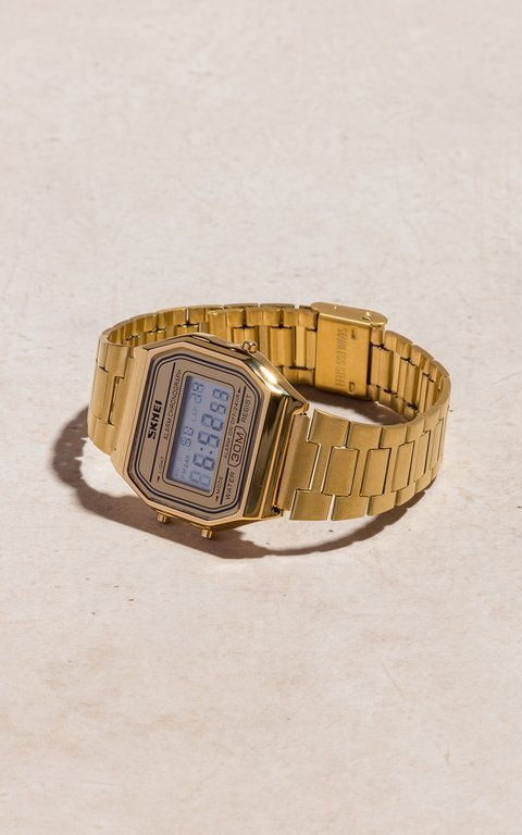 SKMEI - vintage golden mesh watch