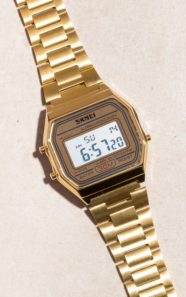 SKMEI - vintage golden mesh watch - comprar online