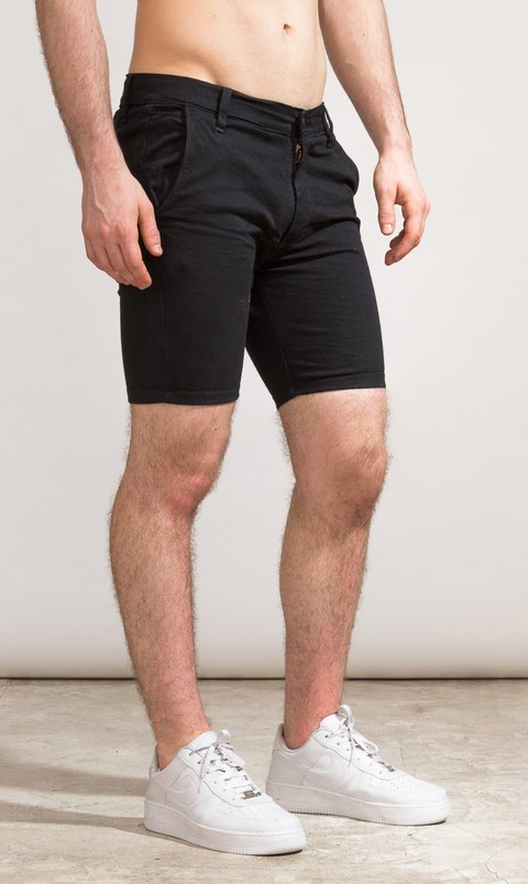 Denim skinny Bermudas - Just black