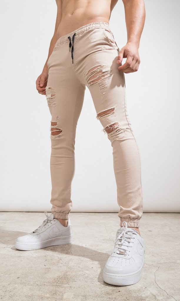 Gabe Skinny Jogger - destroyed cream - buy online