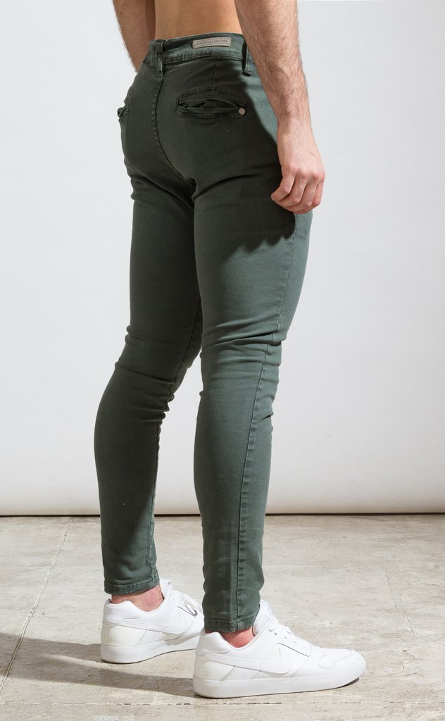 Skinny gabe Chinos - Green - buy online