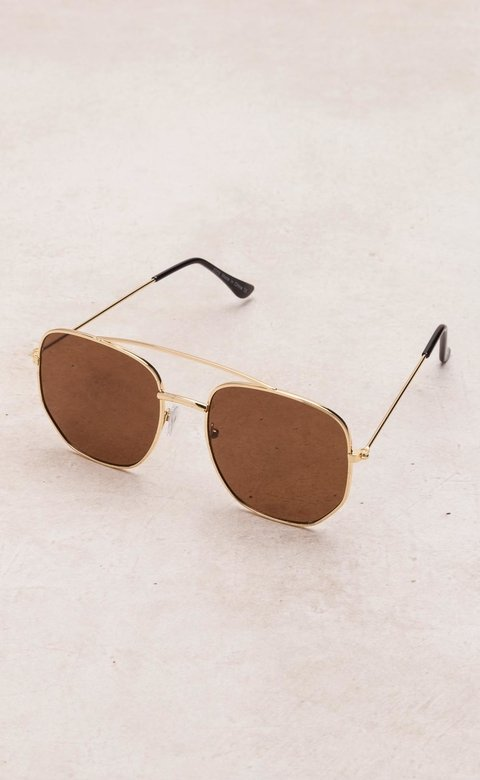 Mohammed lenses - 5055- GOLD/BROWN
