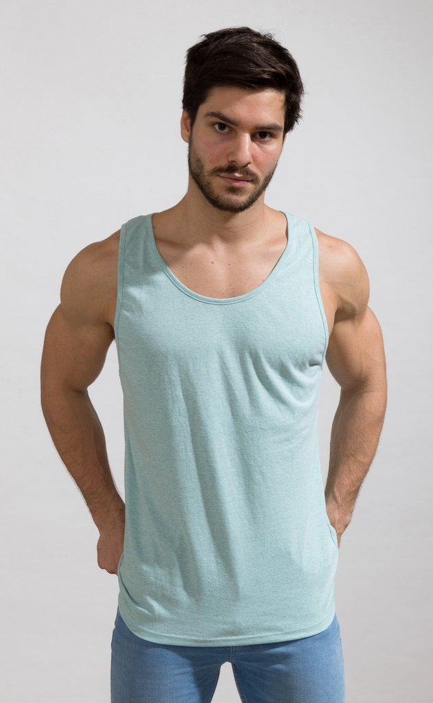Basic Tanktop - aqua on internet