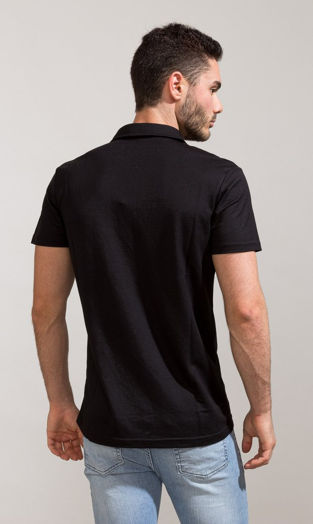 Polo shirt - Black - Harvey & Willys on internet