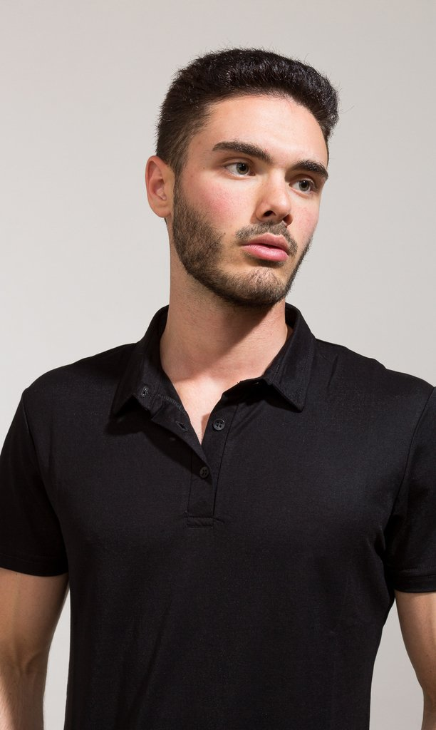 Polo shirt - Black - Harvey & Willys
