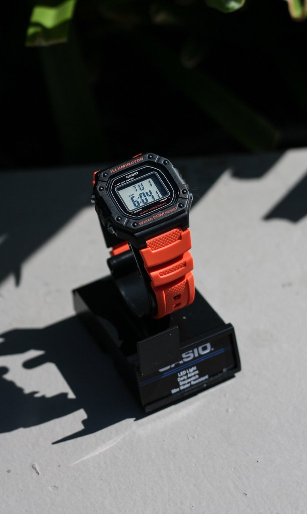 Casio  illuminator - Black and orange