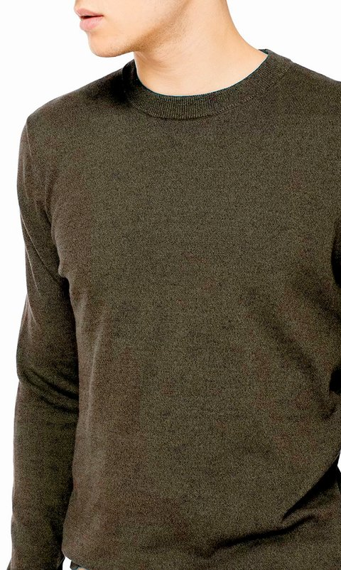 Thin pullover - army