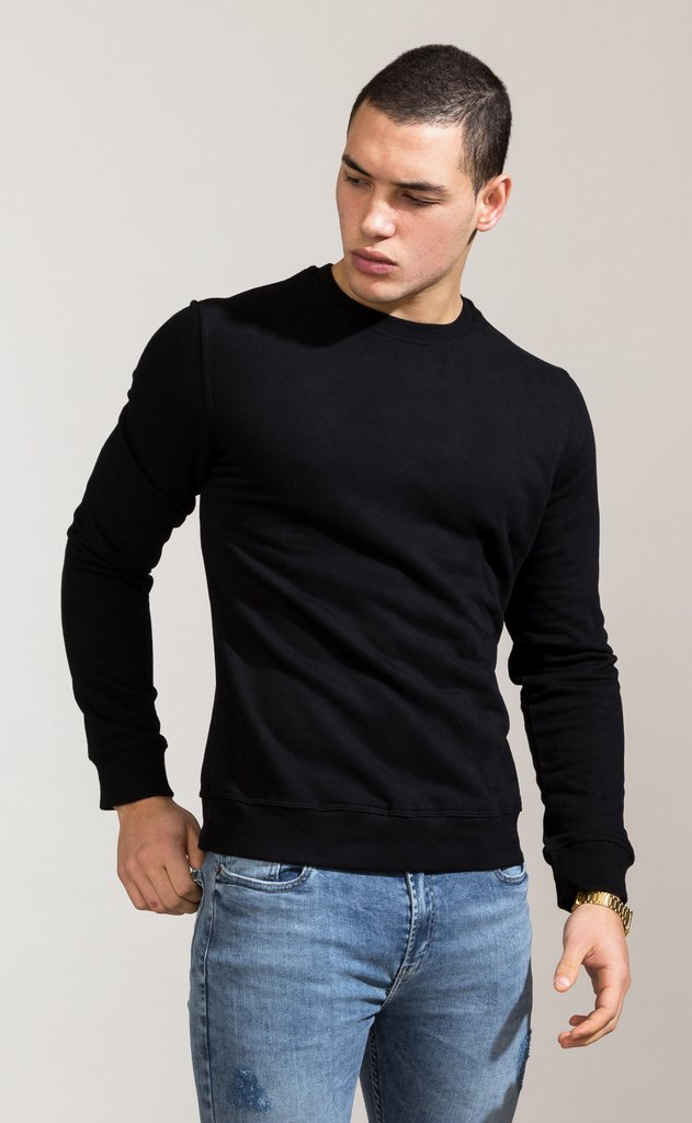 Sweatshirt - Regular fit - Black