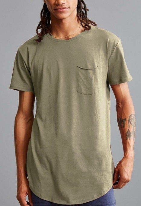 Box cut tshirt - army