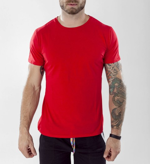 Red Basic slim fit tshirt - Peruvian Cotton - comprar online