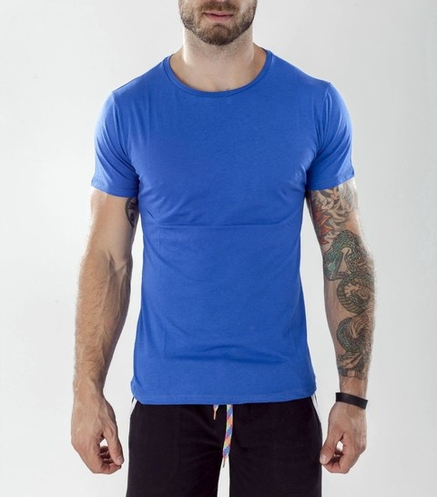 Blue Basic slim fit tshirt - Peruvian Cotton (copia)