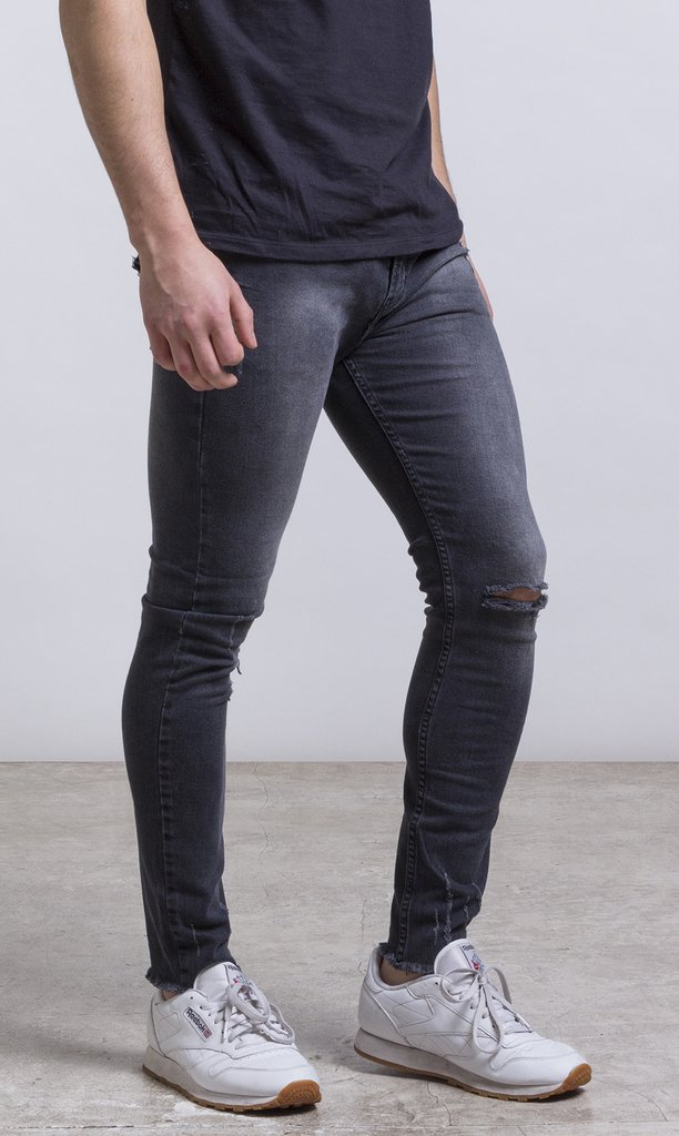 Skinny Jean - stone washed/Grey/Destroyed