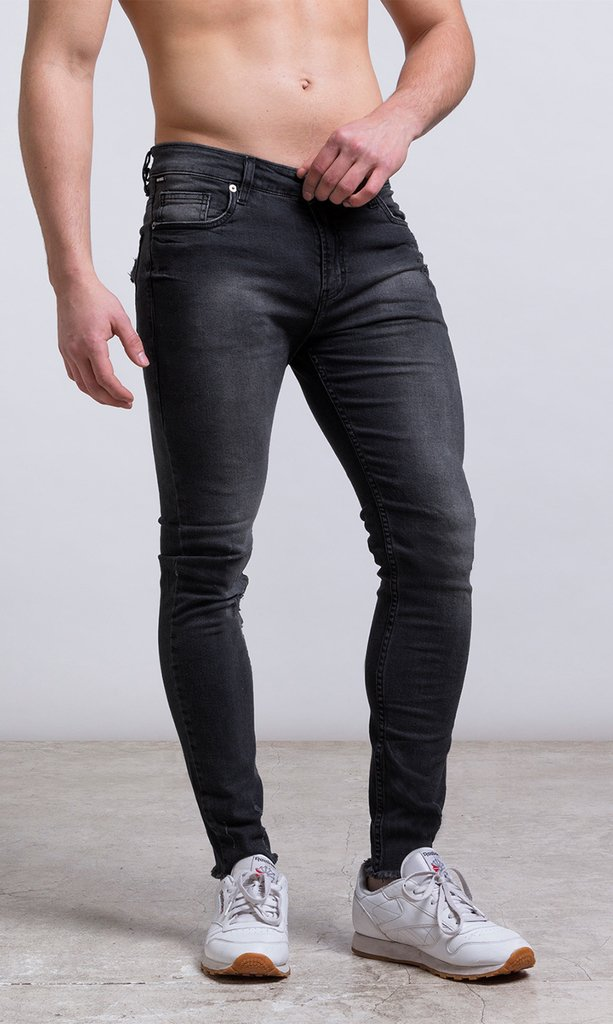 Skinny Jean - stone washed / black / basic