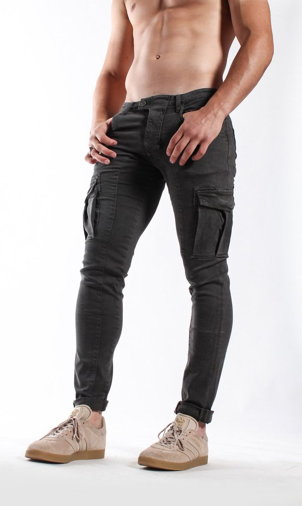 Cargo skinny pants - dark grey