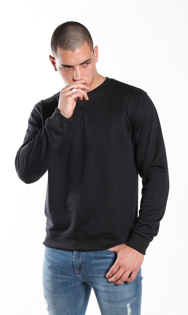 Thin sweatshirt - Black en internet