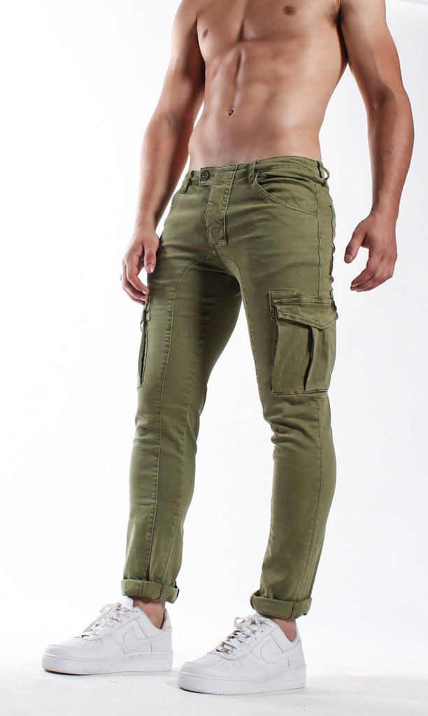 Cargo skinny pants - Army - comprar online