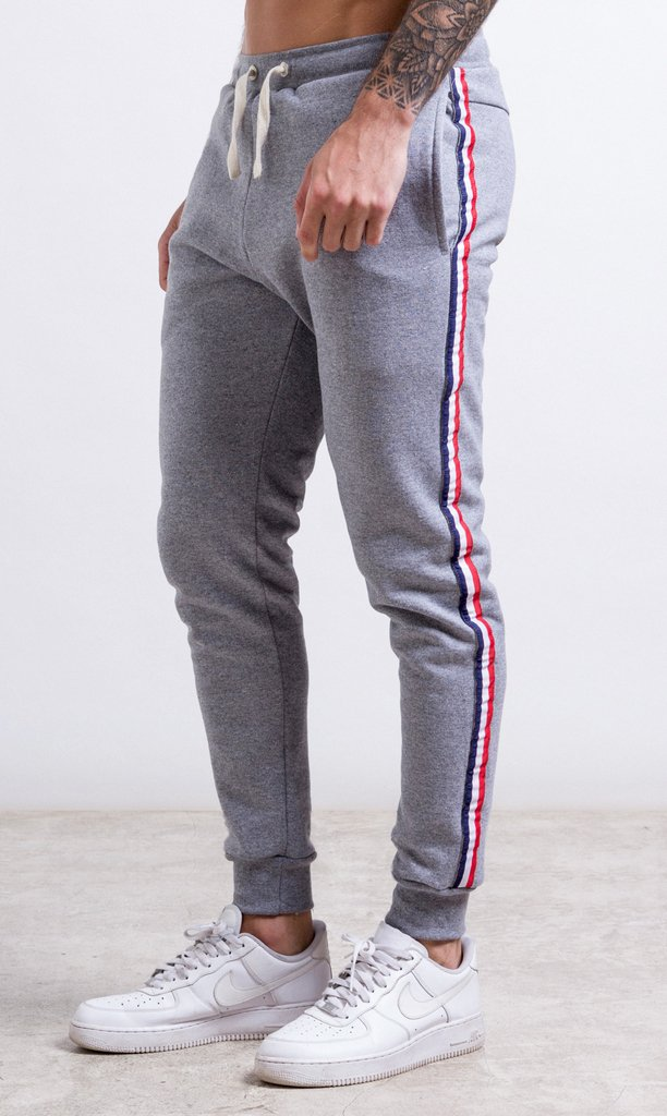 Stripes Jogger - Red & Blue