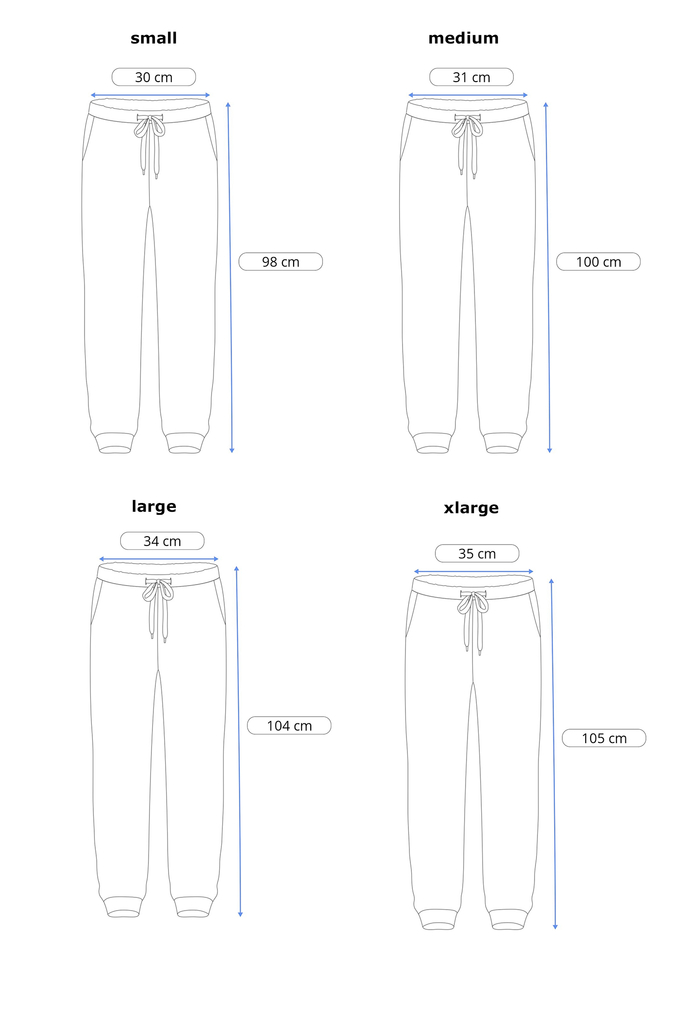 Skinny cotton jogger- Just Blue en internet