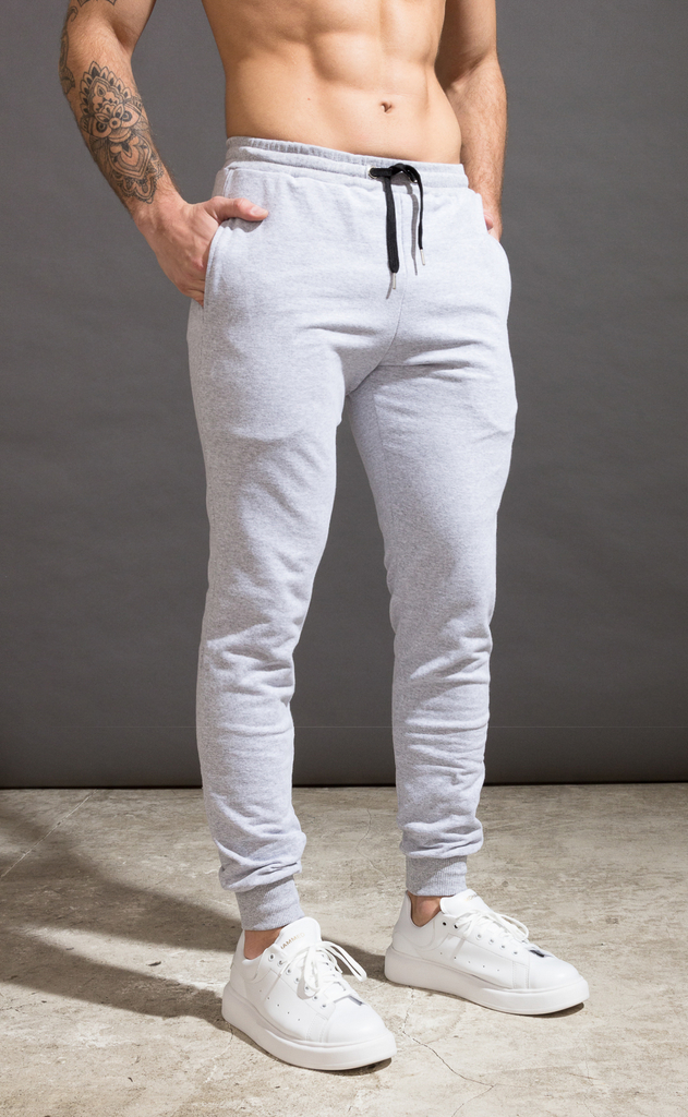 Skinny cotton jogger- Just Grey