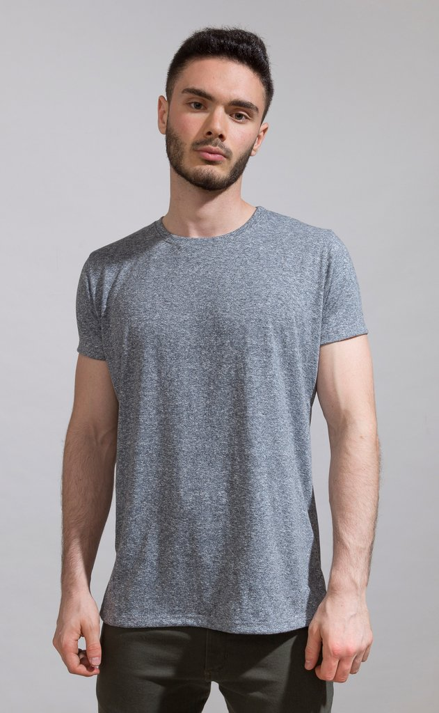 Brooklyn tshirt - Blue- grey melange
