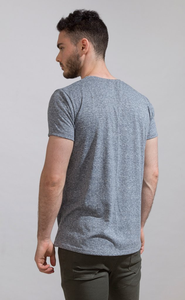 Brooklyn tshirt - Blue- grey melange - comprar online