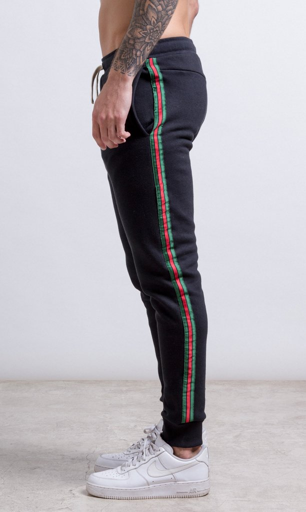 Stripes Jogger - Red & Green - buy online