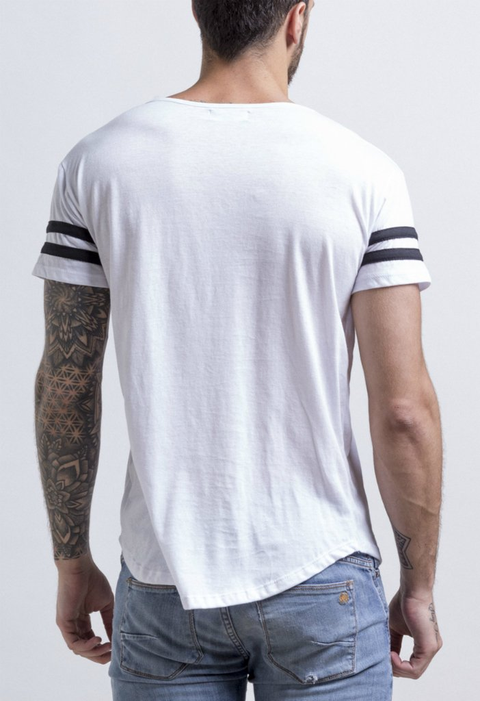 Maxi Tshirt - Stripes (white) - buy online