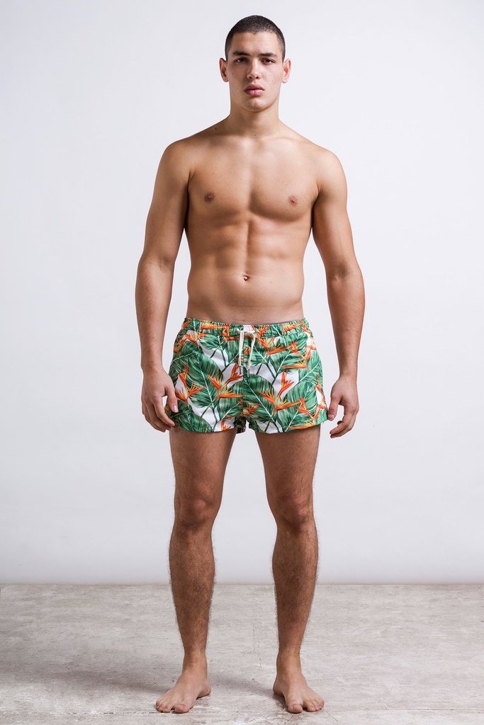 Bird flower swimshort -   Short cut on internet