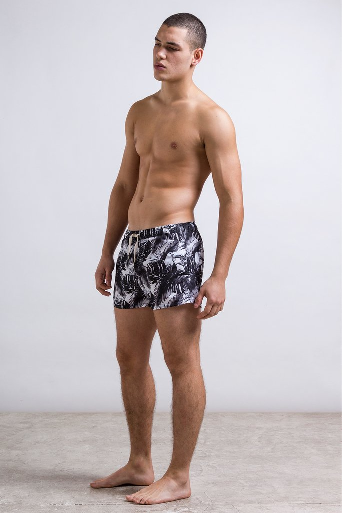 Black & white jungle swimshort - buy online