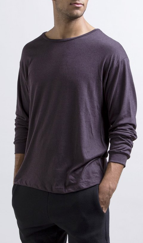 Thin sweatshirt - dark purple