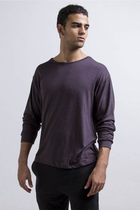 Thin sweatshirt - dark purple en internet