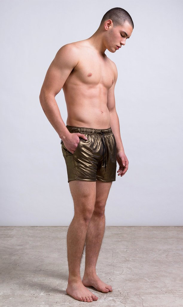 metallic short - regular fit - comprar online