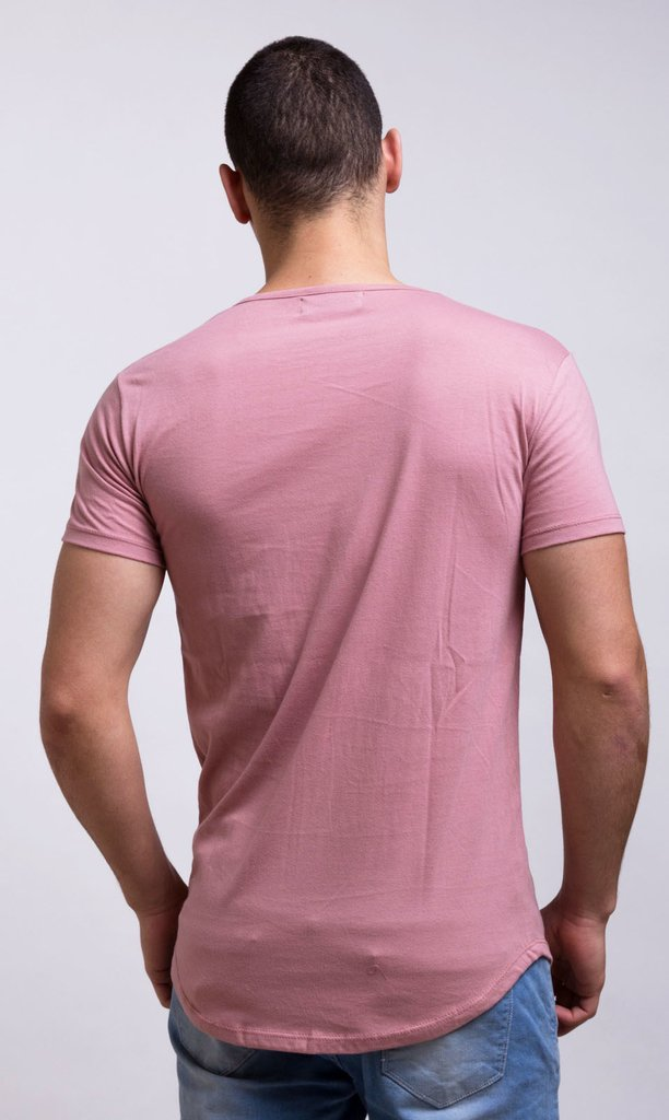 Maxi Tshirt - Old pink on internet