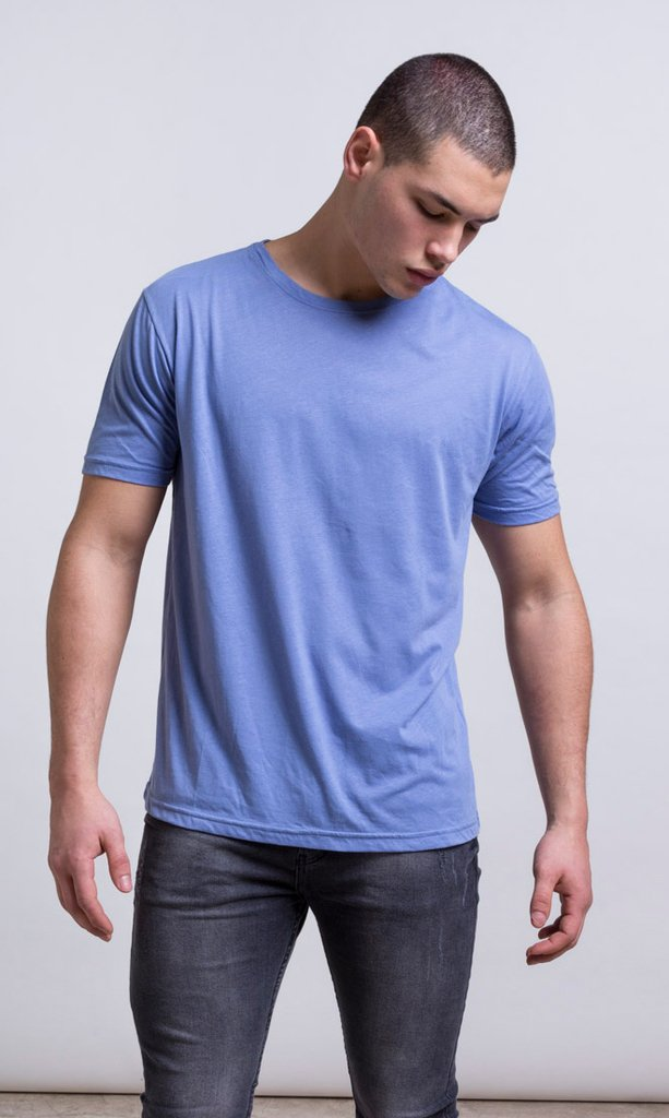 Basic tshirt - Regular fit - cerulean