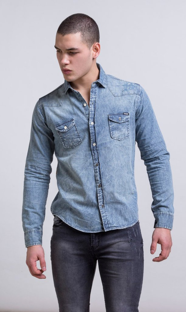 Stone washed denim shirt - Mohammed