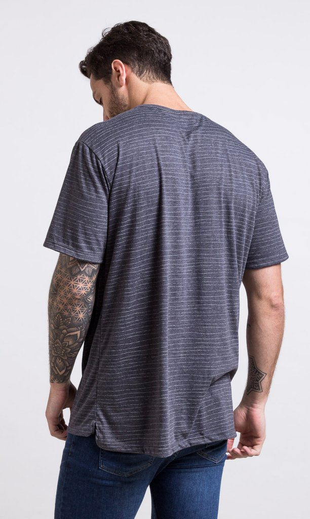 Oversized tshirt - stripes grey - comprar online