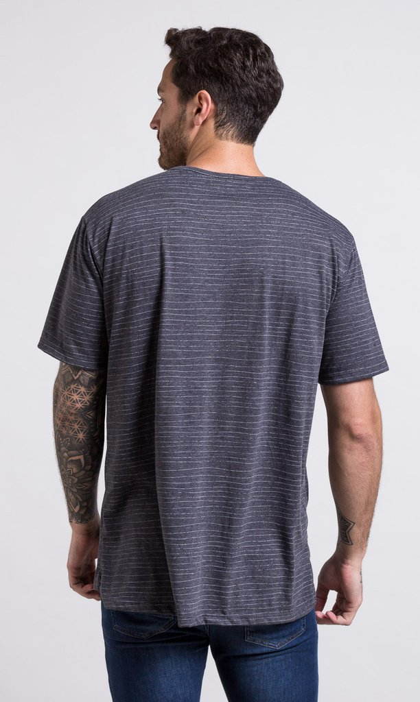 Oversized tshirt - stripes grey en internet