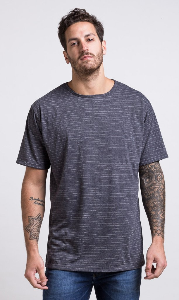 Oversized tshirt - stripes grey